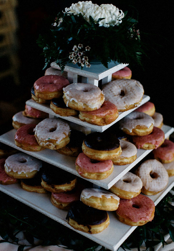Gorgeous Donuts Wedding Dessert Bar Decor Inspiration