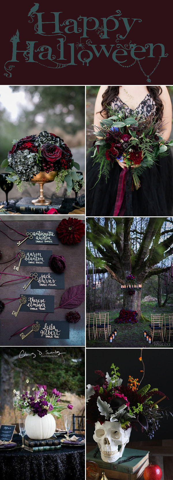 Jewel Tone Happy Halloween Wedding Color Ideas