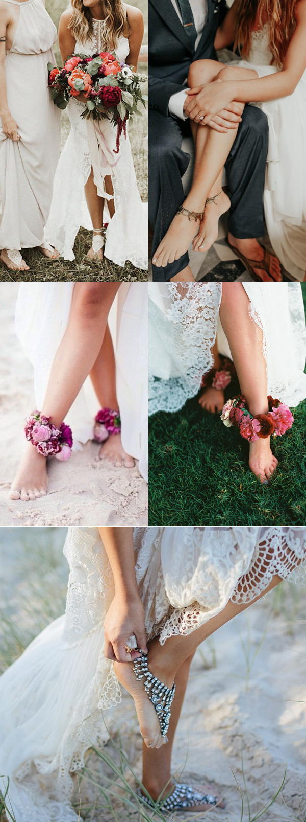 Lovely Bohemian Bride Barefoot Sandal Ideas