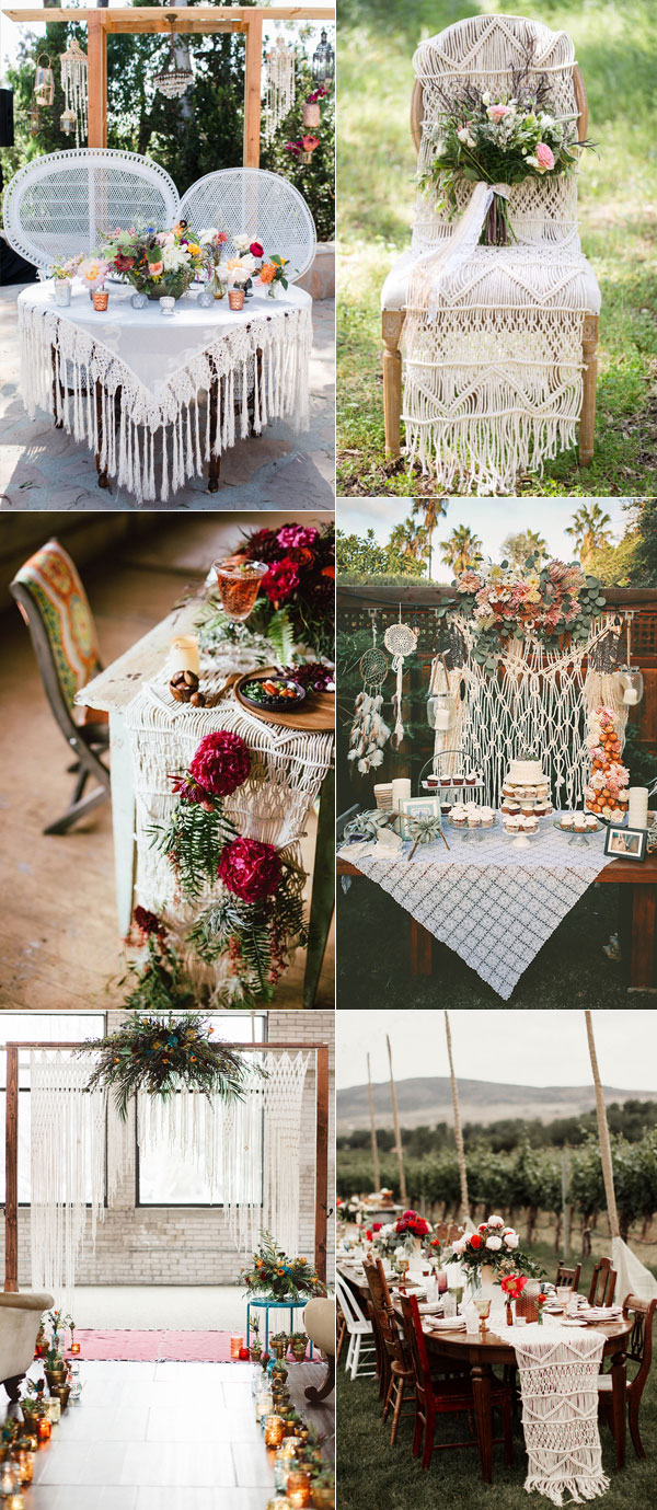 Tips to plan romantic boho weddings 2018 for Boho dekoration