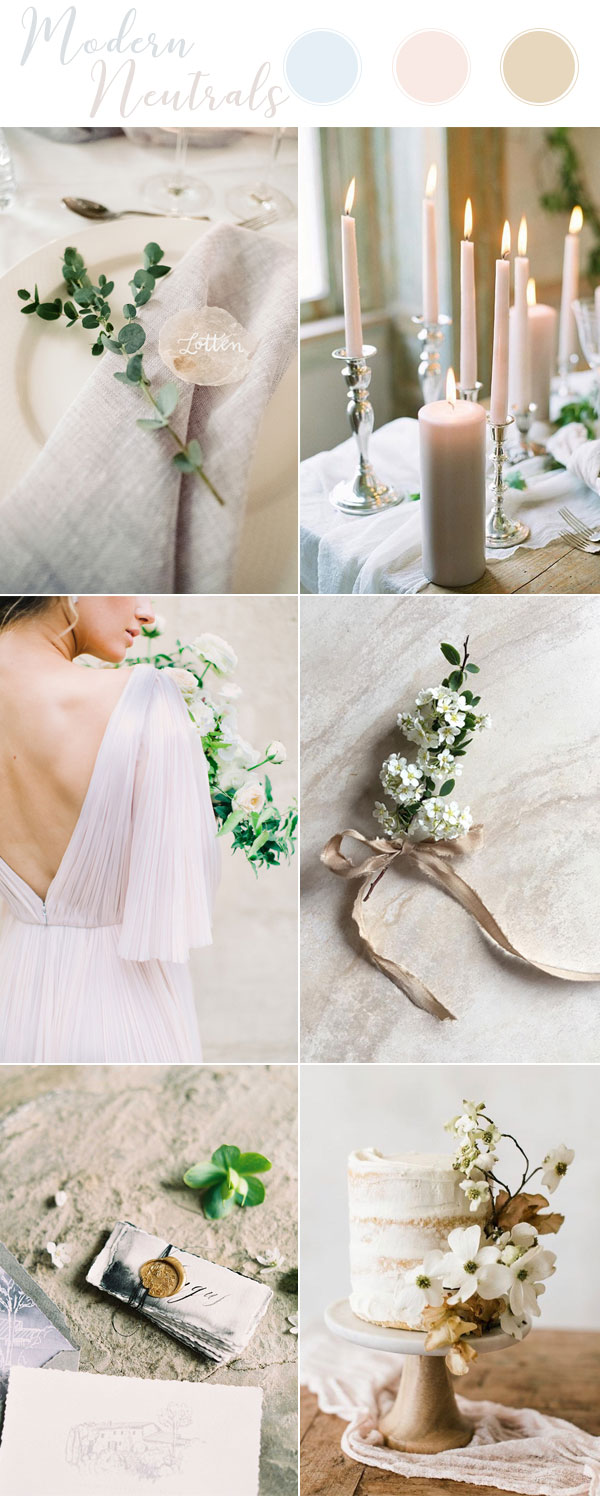 Modern Neutral Wedding Theme Ideas