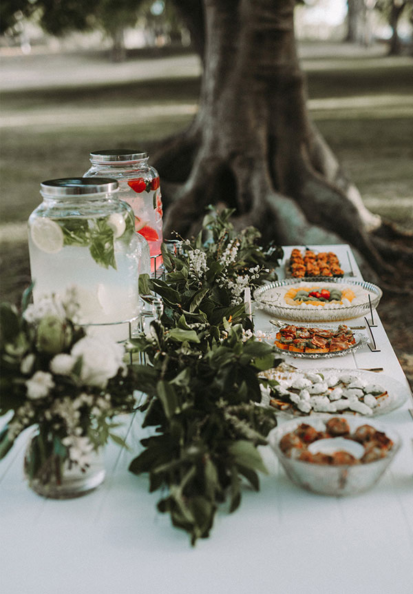 How to incorporate mason jars into your wedding dcor outdoor wedding dessert table decor with mason jar beverage dispenser junglespirit Gallery