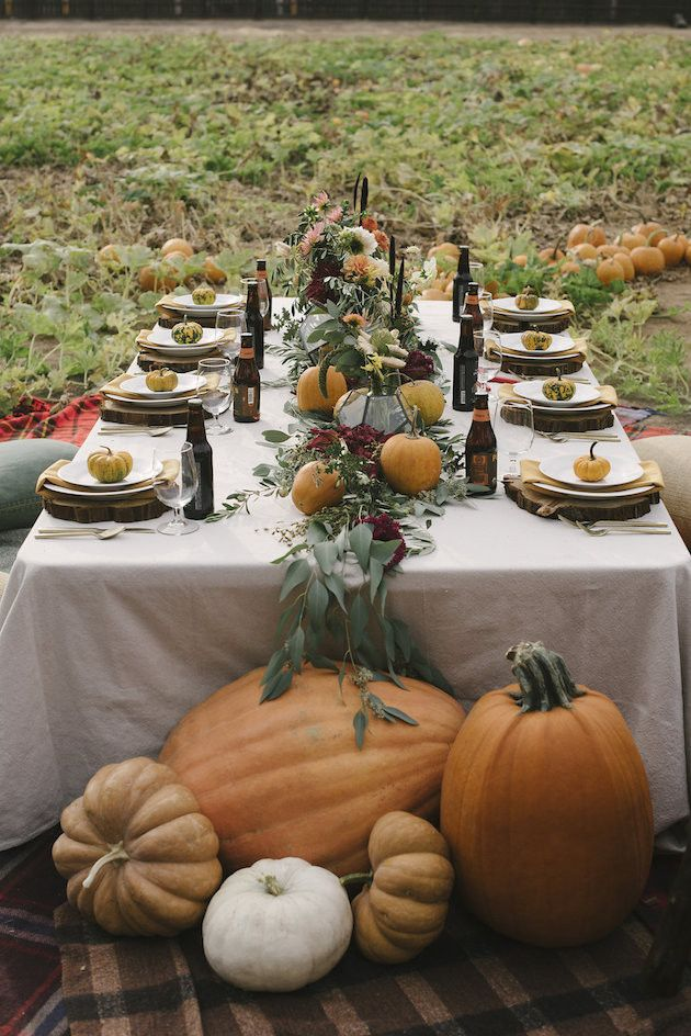 Pumpkin Halloween Festival Wedding Centerpieces Ideas