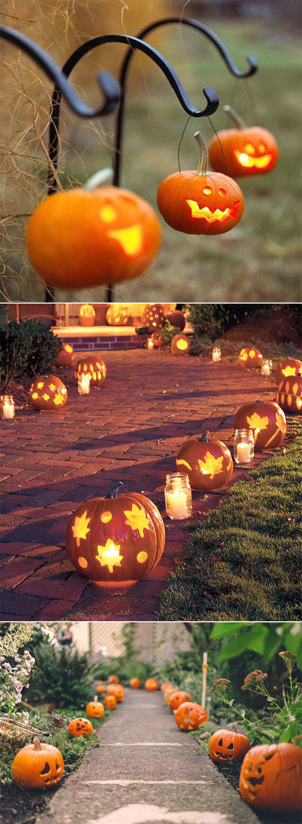Pumpkin Paved Aisle Decoration for Halloween Wedding