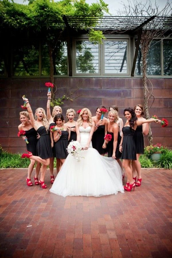Red and Black Vampire Halloween Wedding Ideas