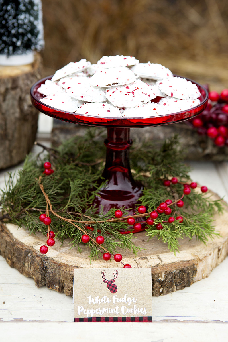 Rustic Christmas Dessert Table Ideas