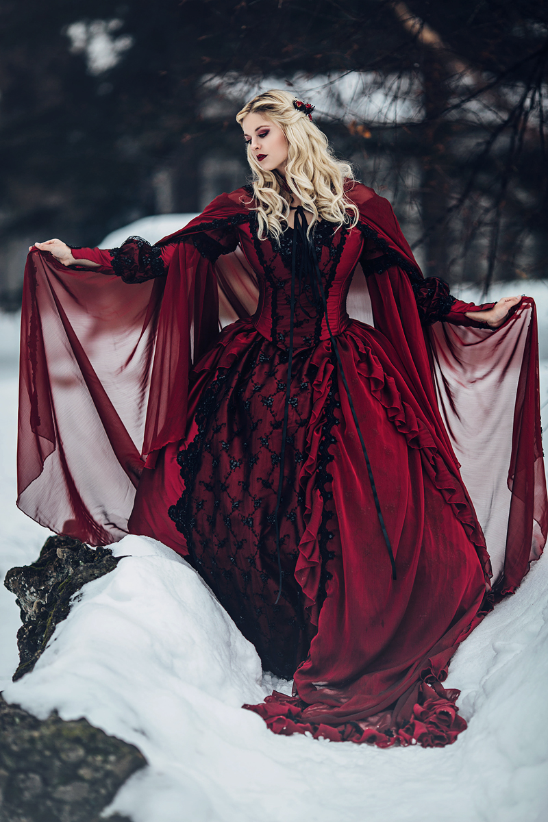 Stunning Bloody Red Vampire Wedding Dresses