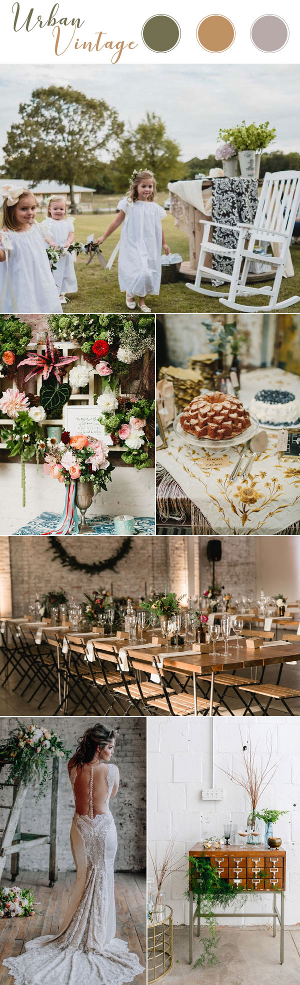 Trendy Urban Vintage Wedding Theme Inspiration 2018