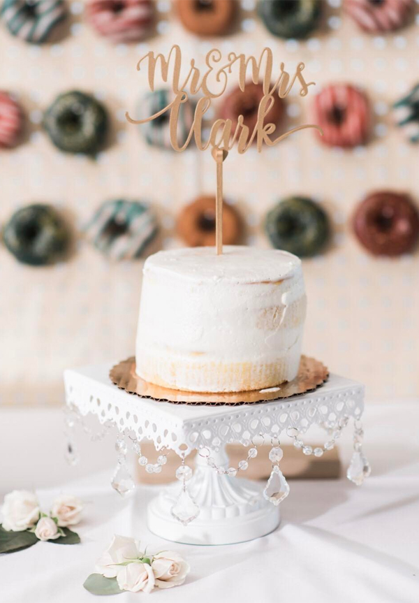 Wedding Cake and Donut Wall Decorations