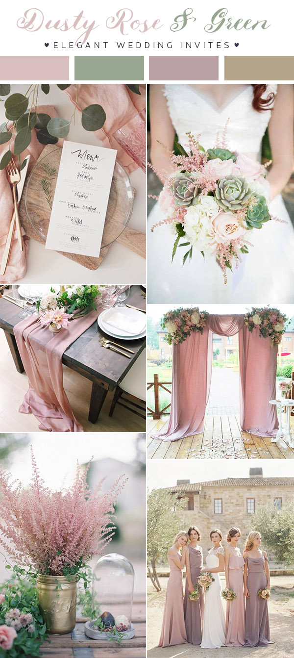(Updated)Top 10 Wedding Color Scheme Ideas for 2018 Trends