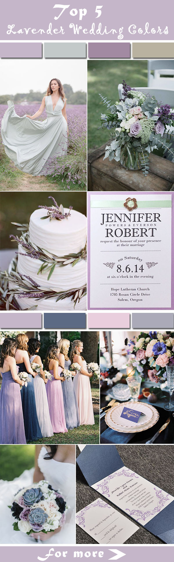 5 Most Popular Lavender Wedding Colors #ElegantWeddinginvites