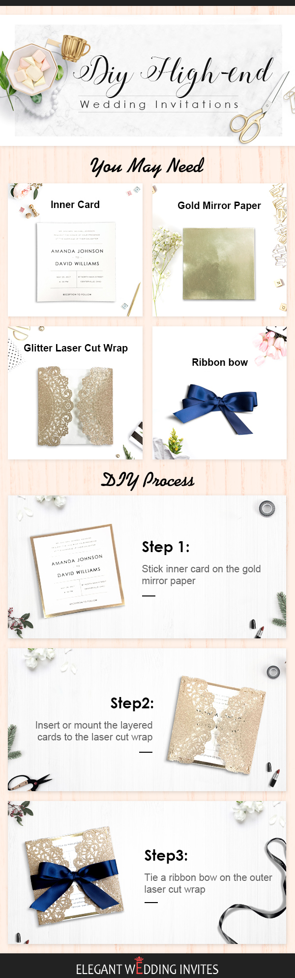DIY High-end Wedding Invitations