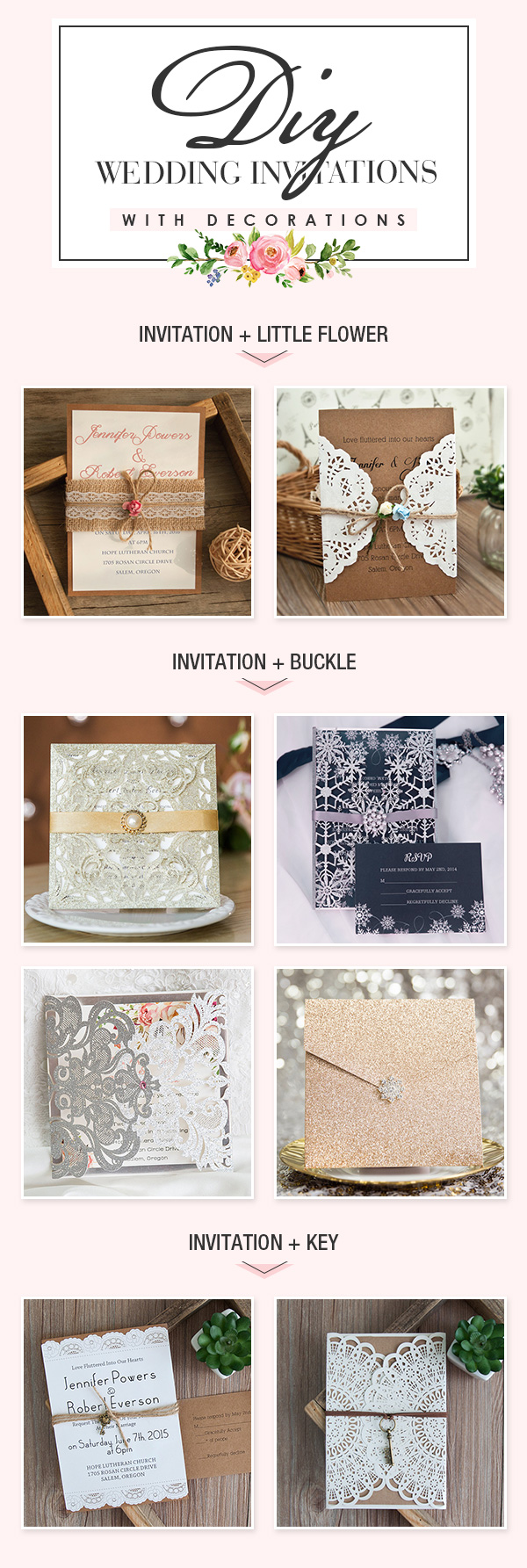 DIY Wedding Invitations with Decorations