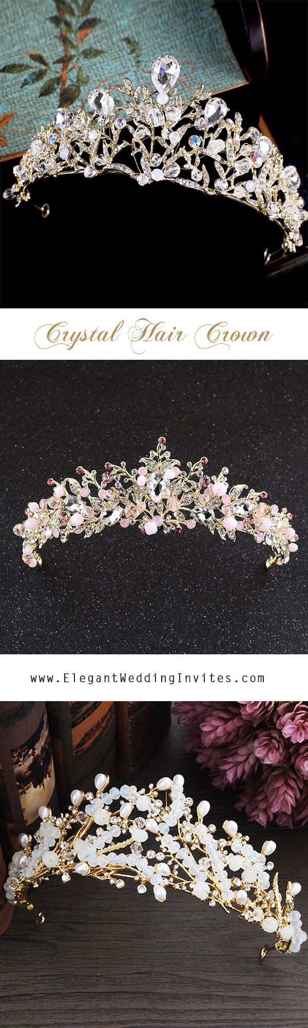 EWI Bridal Hair Accessories Crystal Hair Crowns