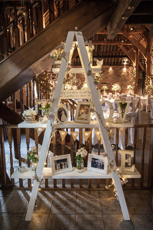 Elegant White Ladder Vintage Wedding Ideas