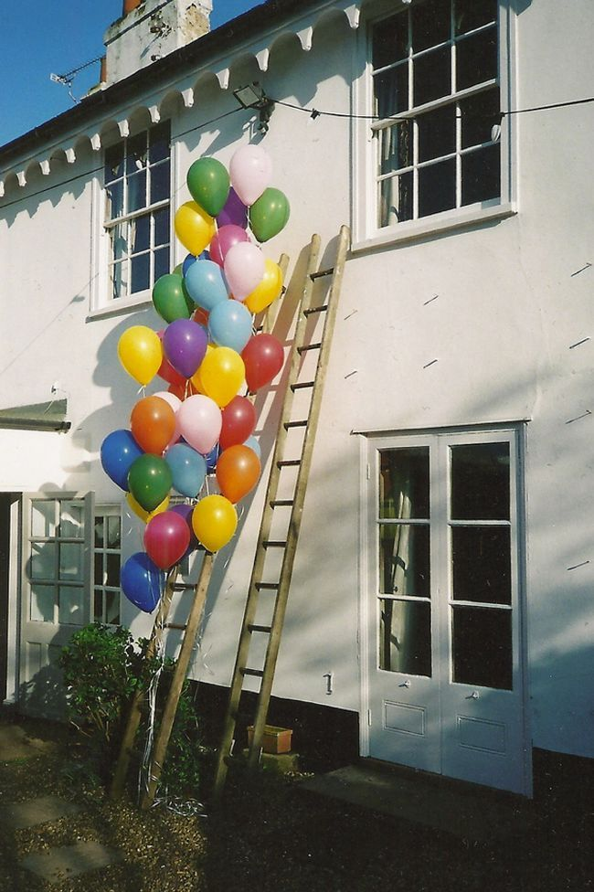 Ladder Wedding Decoration with colorful Balloons