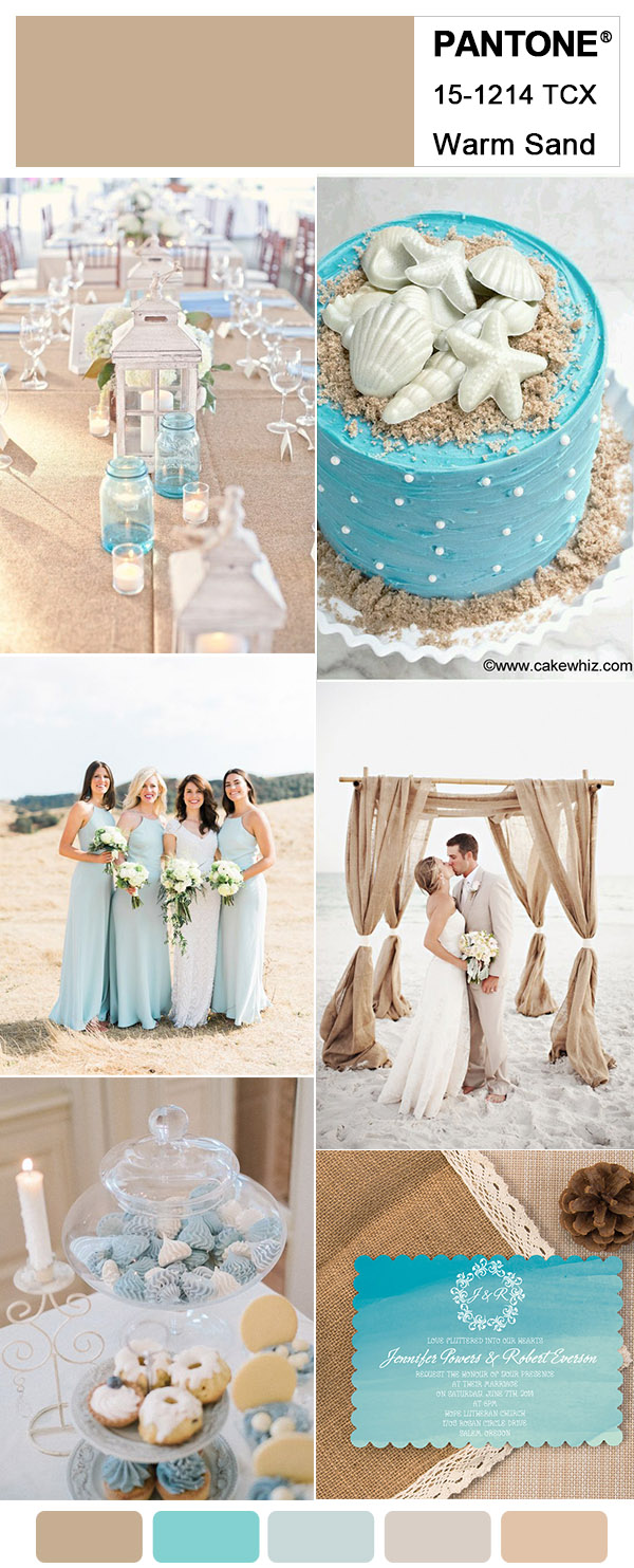 5 Warm Sand Neutral Wedding Colors for 2018 Trends Inspired by Pantone