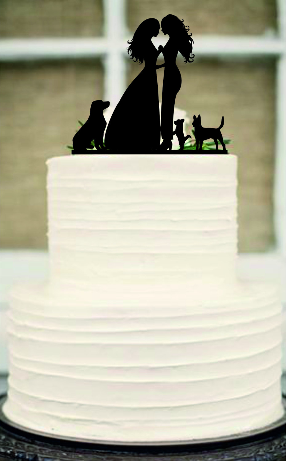 Mrs and Mrs Wedding Cake Toppers