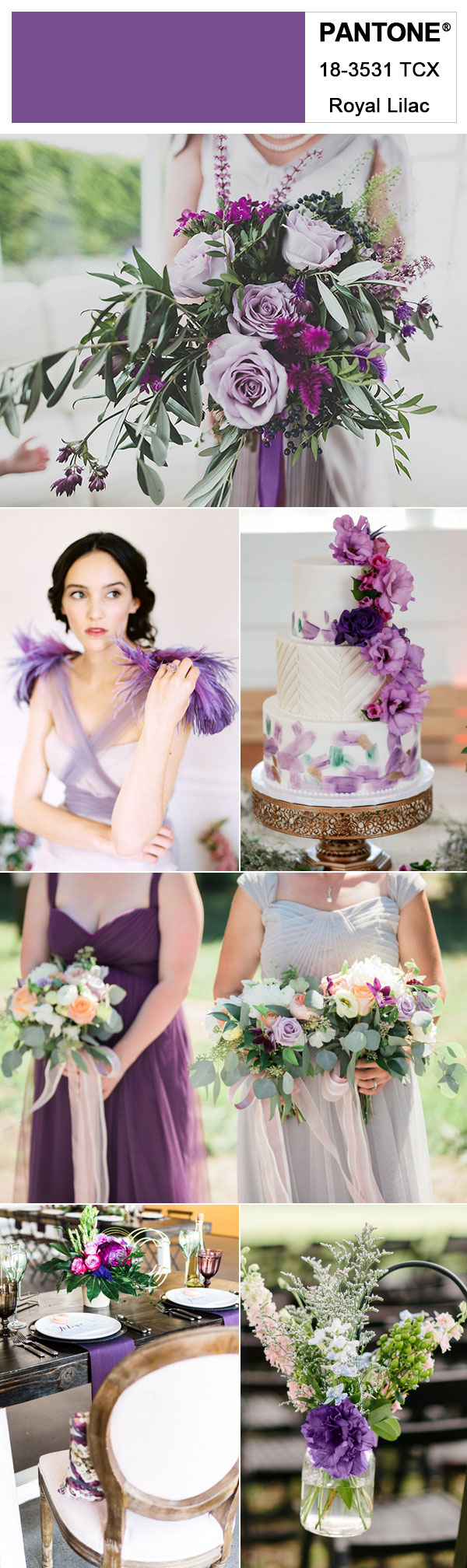 Pantone Royal Lilac – Rich & Bold Color Accents for Your Fall / Winter Weddings