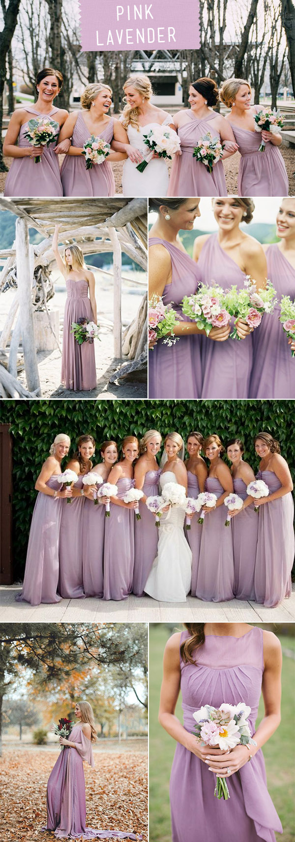 Pink Lavender Bridesmaid dresses for 2018 Wedding Trends