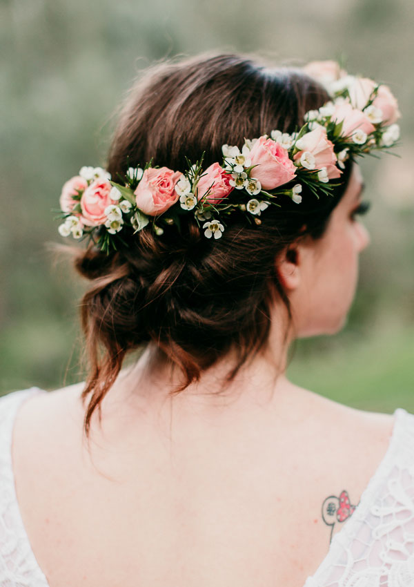 Romantic Rose Floral Bridal Crown
