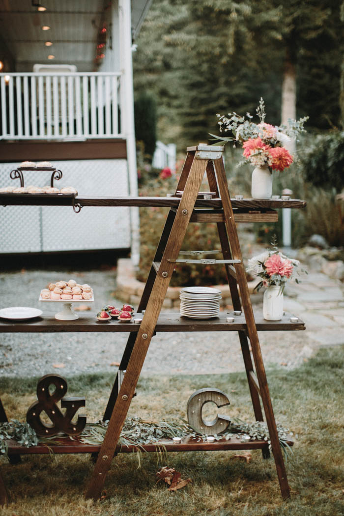 Rustic Dessert Ladder Table Wedding Ideas