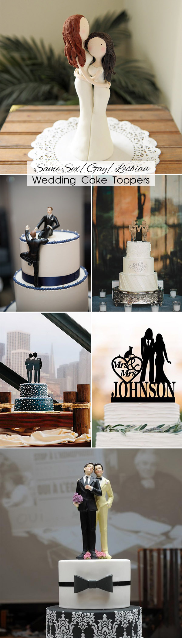 Same Sex Wedding Cake Toppers Ideas for Gay and Lesbian Couple