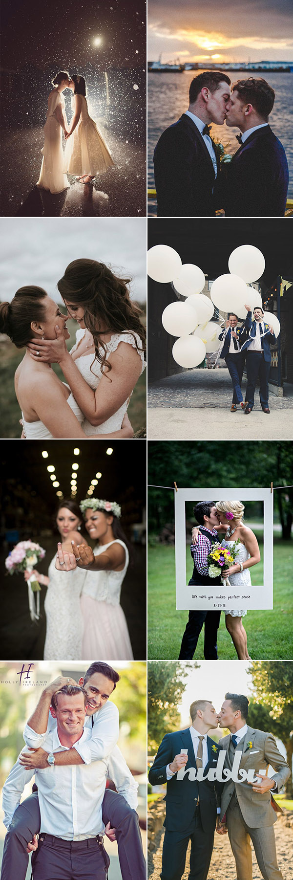 Sweet and Romantic Wedding Photo Ideas for Lesbian and Same Sex Wedding