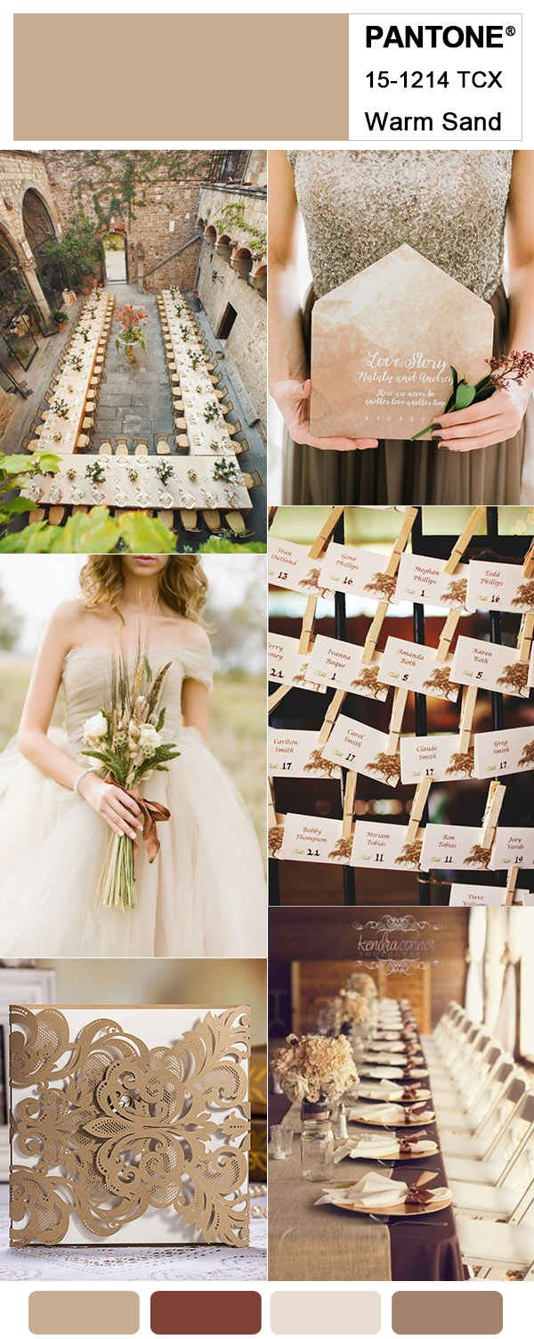 Warm Brown and Copper Shade Fall Wedding Colors for 2018 Trends