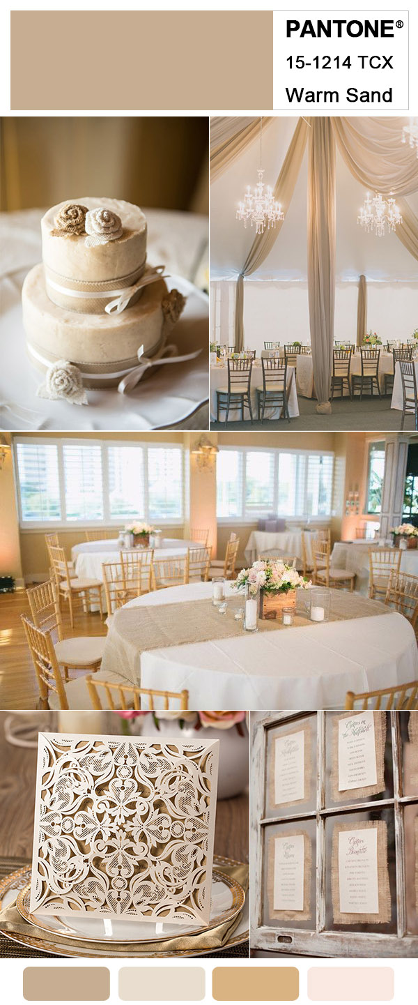 Warm Sand Brown and Ivory Elegant Rustic Wedding Inspiration