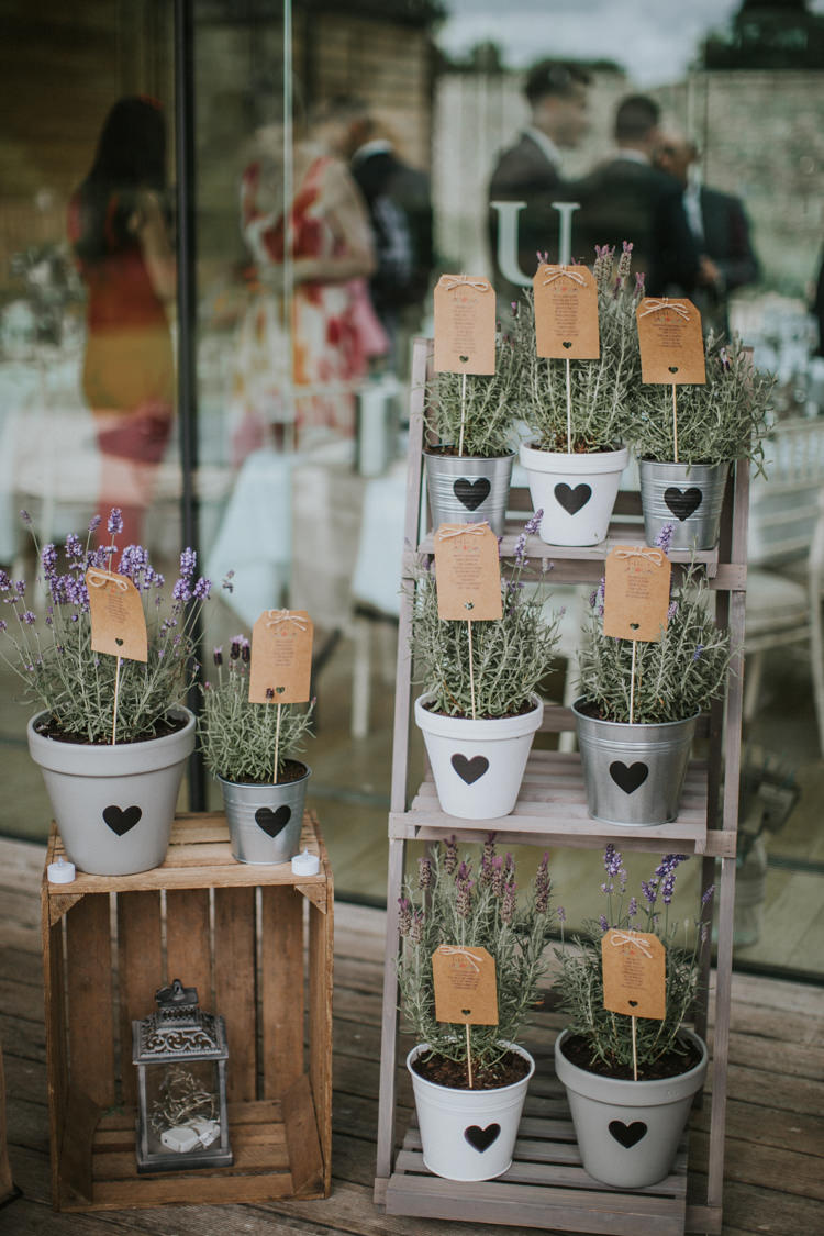 Wedding Favors Displayed on Wood Ladder
