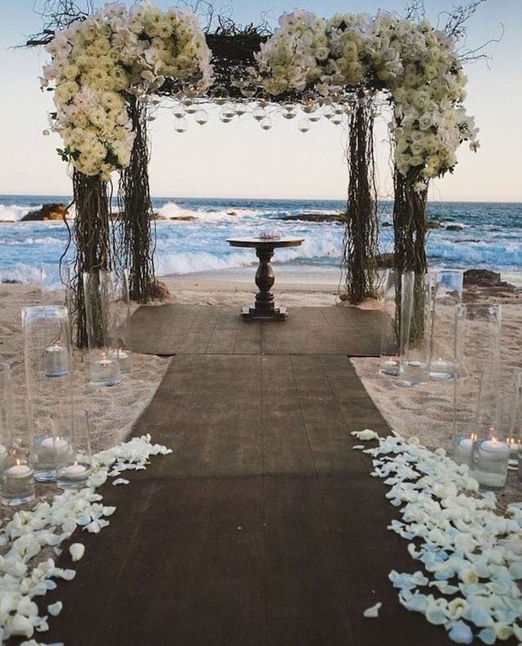 Outdoor Rustic Beach Wedding Ceremony Ideas