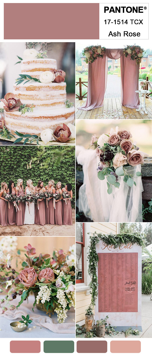 Gorgeous Ash Rose Wedding Colors for 2018 Trends Inspired By Pantone