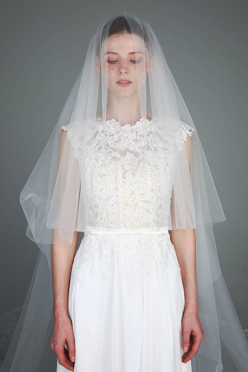 Romantic Cathedral Length 2 Tiers Lace Wedding Bridal Veil