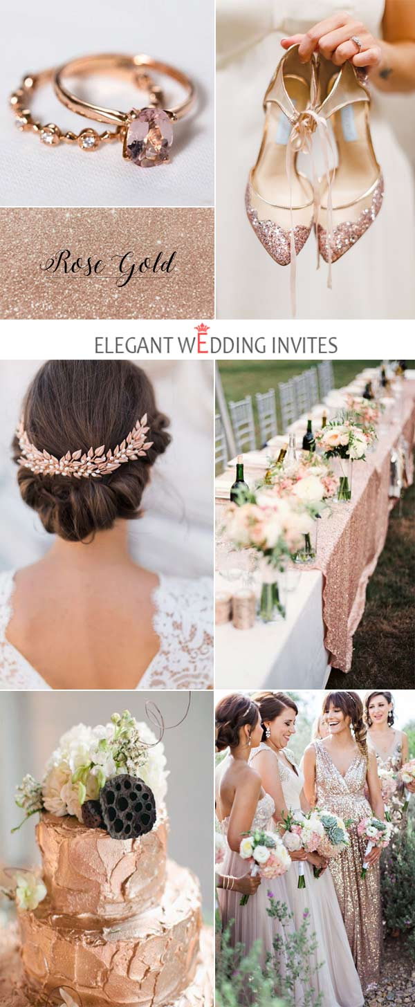 Rose Gold Glittery Wedding Inspiration