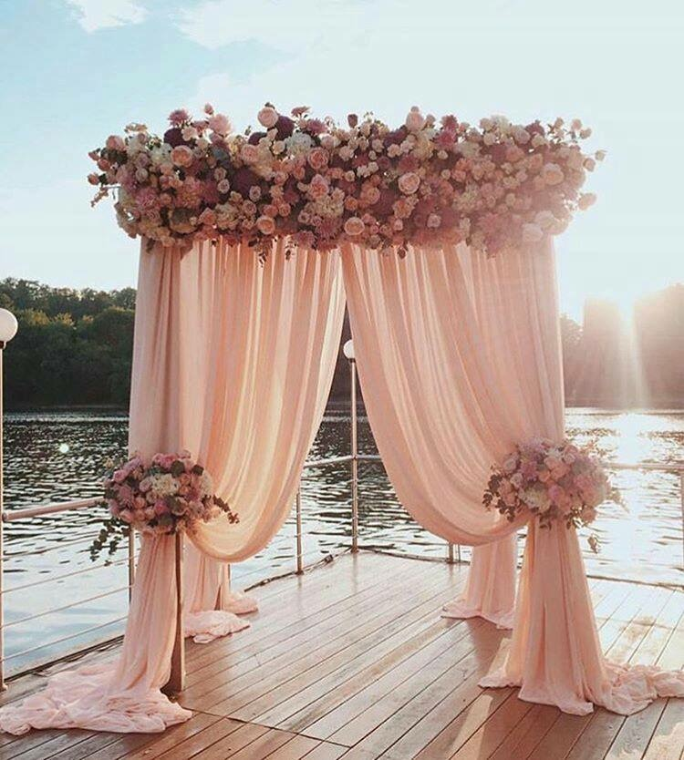 The Most Popular Waterfront Wedding Arch Ideas