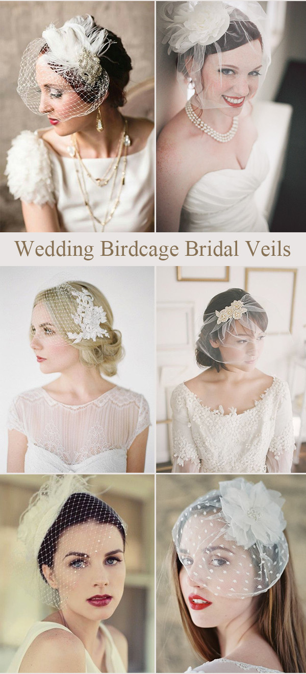 Wedding Birdcage Bridal Veils