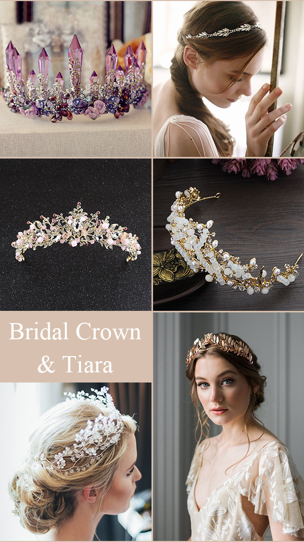 Wedding Hair Crown and Tiara Jwellery for Your Bridal Hair Styles