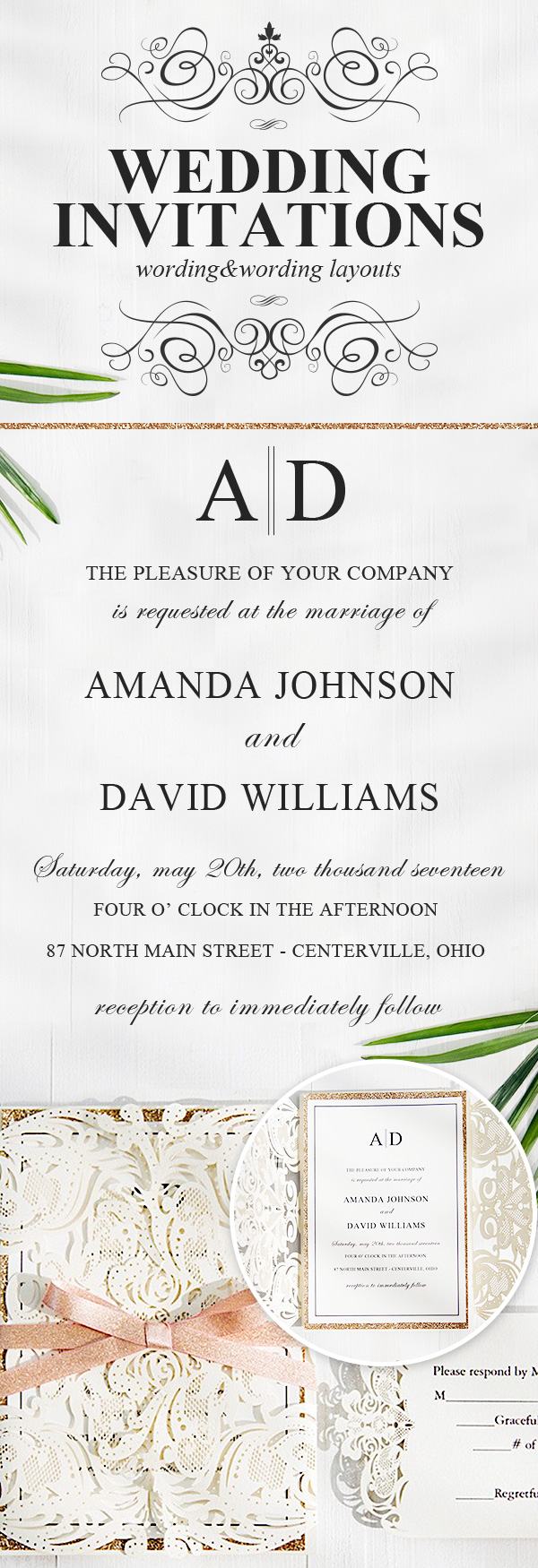 custom wedding invitation wording