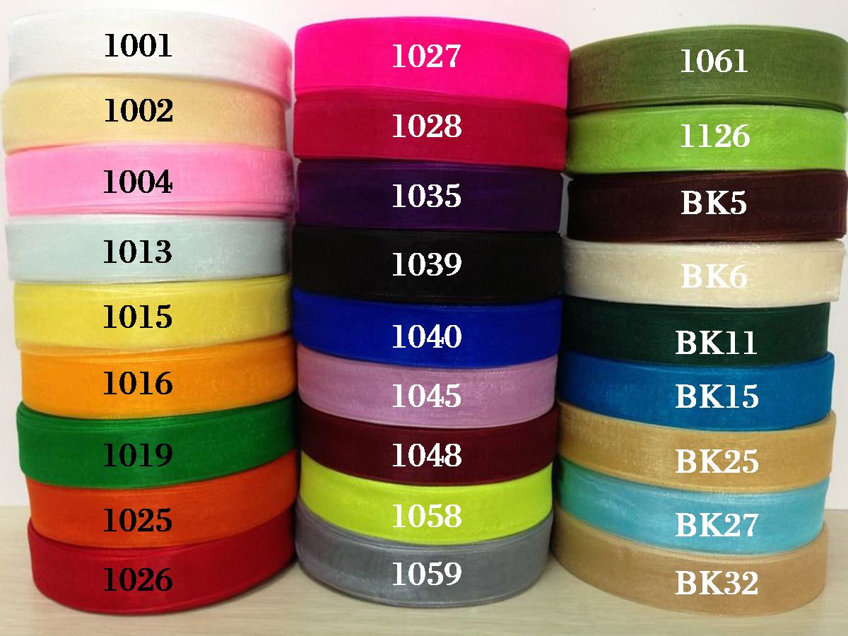 voile ribbon colors