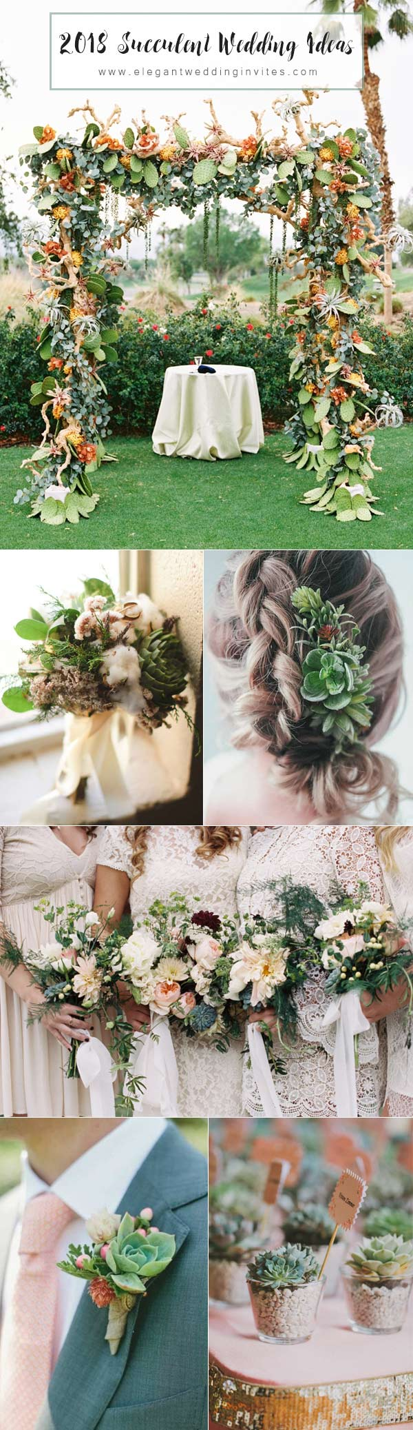 2018 Succulent Wedding Inspiration