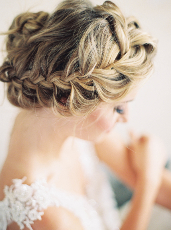Elegant Twist Updo Wedding Hairstyles