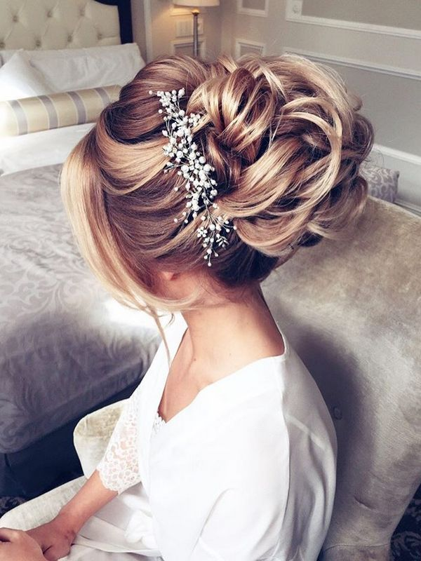 Gorgeous Updo Bridal Hairstyles Ideas for Long Hair