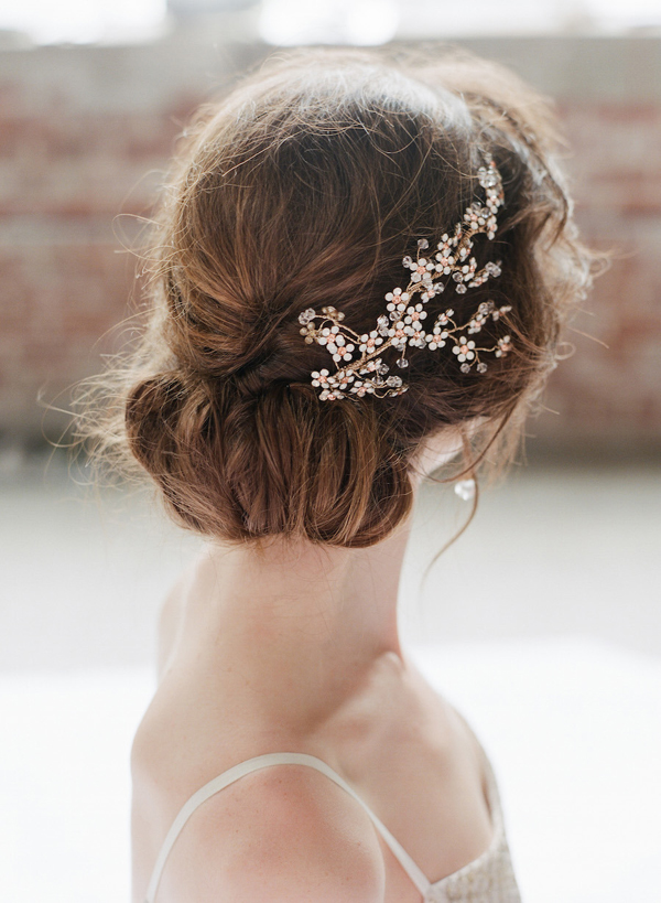 Romantic bridal updo bridal hairstyles