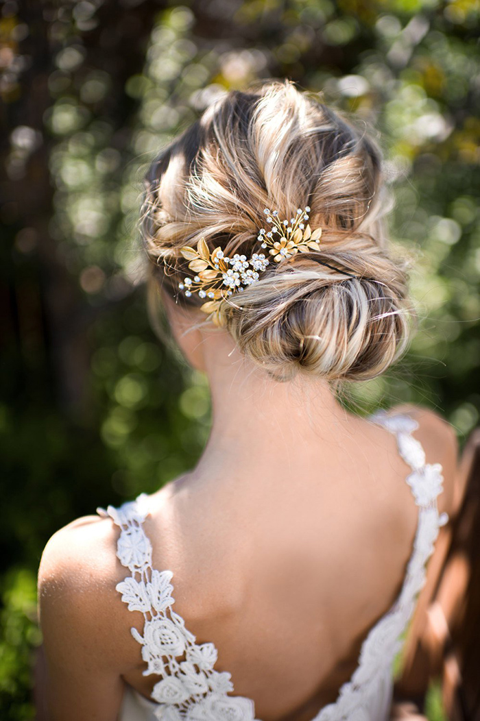Simple and Easy Updo Hairstyles for Shorter Hair Brides