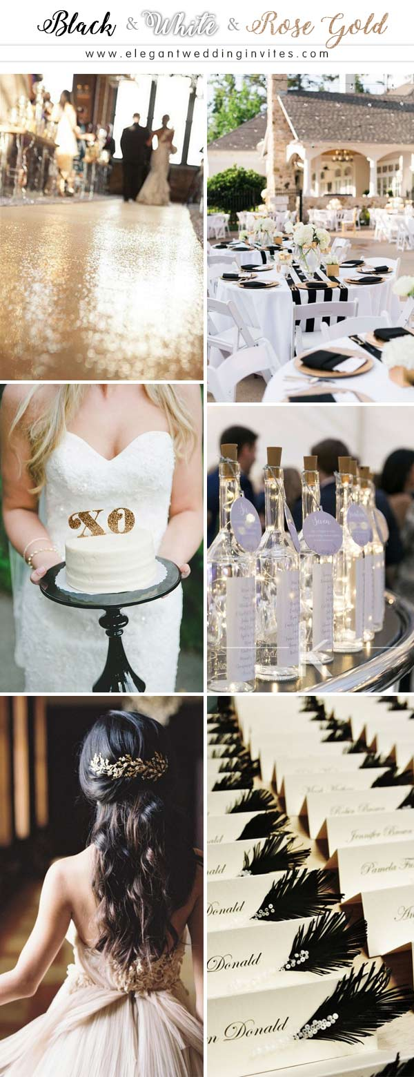 Glamorous Rose Gold Wedding Color Palette Ideas ...