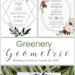 4 Chic Geometric Modern Wedding Invitation Trends for 2019
