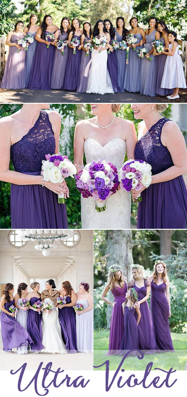 Ultra violet bridesmaid dresses ideas