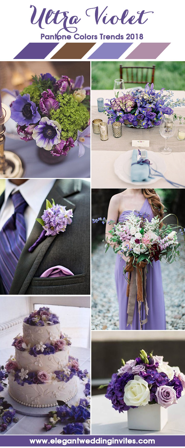 Ultra Violet, Lilac and Pink Blush Wedding Color Inspiration