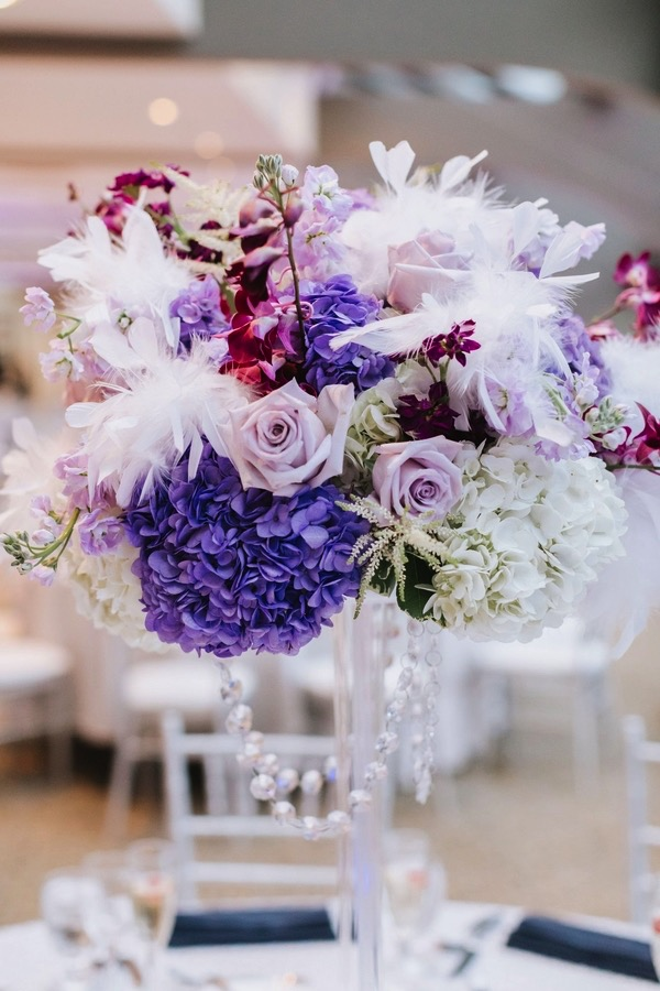 purple lavender wedding centerpiece ideas & Wedding Trends 2018 : Pantone Ultra Violet Wedding Color Ideas ...